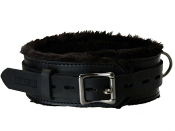 BONDAGE GEAR STRICT LEATHER PREMIUM FUR LINED LOCKING COLLAR