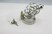 The Tight Squeeze Impaler Extreme Steel Chastity Device