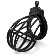THE TOTAL LOCK DOWN STEEL CHASTITY CAGE