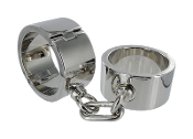 HEAVY CHROME PLATED WRIST SHACKLES
