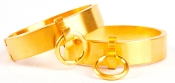 Bondage Gear Gold Cuffs