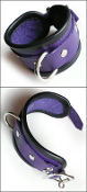 LOCKING WRIST AND ANKLE CUFFS PURPLE