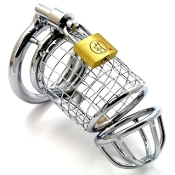 CHASTITY DEVICES THE COCK SHREADER STEEL CHASTITY CAGE