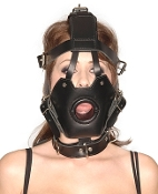 BONDAGE GEAR STRICT LEATHER PREMIUM MUZZLE WITH OPEN MOUTH GAG