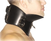 STRICT LEATHER BDSM POSTURE COLLAR BONDAGE GEAR