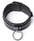 EXTREME PREMIUM LOCKING LEATHER COLLAR BONDAGE GEAR