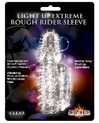 LIGHT UP EXTREME ROUGH RIDER SLEEVE CLEAR