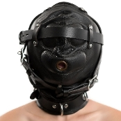 EXTREME PREMIUM LEATHER SENSORY DEPRIVATION HOOD