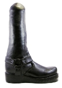 BOOT BOY 16 INCH BLACK SILICONE DILDO