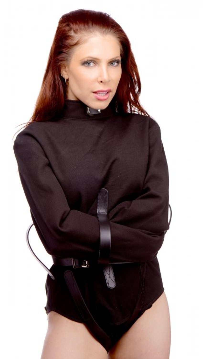 BLACK CANVAS STRAIGHTJACKET BONDAGE GEAR