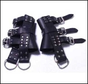 BONDAGE GEAR LEATHER BOOT SUSPENSION RESTRAINTS