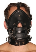 BONDAGE GEAR MUZZLE WITH BLINDFOLD AND GAGS