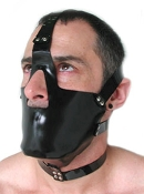 RUBBER HEAD HARNESS WITH MUZZLE BONDAGE GEAR