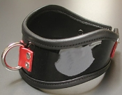 FIRECRACKER PATENT LEATHER POSTURE COLLAR BONDAGE GEAR