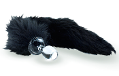 BLACK FOX GLASS BUTT PLUG TAIL