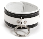 EXTREME PREMIUM LEATHER THIGH CUFFS BLACK AND WHITE