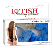 FETISH FANTASY SERIES BLUE FURRY HAND CUFFS